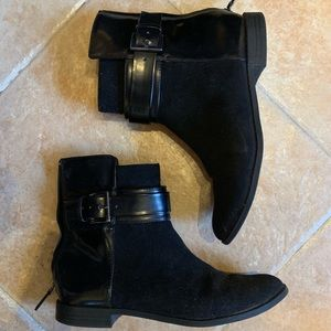 Zara ultra suede boots black size 39